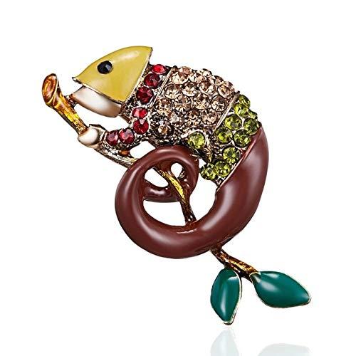 Vintage aleación de esmalte serpiente escorpión lagarto escarabajo broches para mujeres hombres insectos creativos pines moda cristal insectos insignias regalo