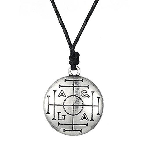 LIKGREAT - Collar con colgante de amuleto de la riqueza y la prosperid