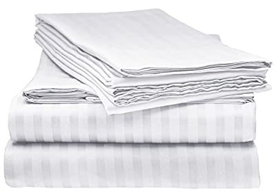 Queen Italian Prestige Collection Bed Sheet Set – 1800 Luxury Soft Microfiber Hypoallergenic Deep Pocket 4-Piece Bedding Set - Wrinkle, Stain, Fade Resistant - White