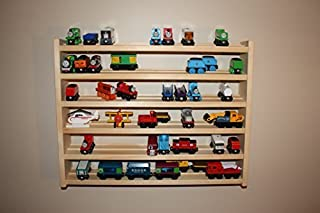 wooden train shelf