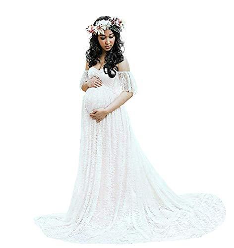 Huixin Damen Mode Hochzeitskleid Für Vintage Schwangere Kleider Elegante Mutterschaftskleid Für Fotoshootings Ballkleider Shooting Kleid Umstandsmode Abendkleider Festlich Brautkleid Trauzeugin