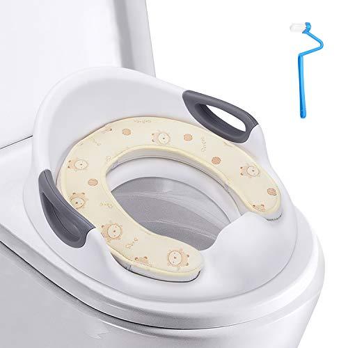 HBselect Kinder WC Sitz,Töpfchen Training Sitze mit Plüsch WC-Sitzkissen für Jungen und Mädchen passt auf runde und ovalen Toiletten, Toilettensitz/Trainingssitz/Toilettentrainer
