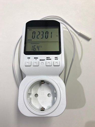 Hochwertiges Programmierbares 2 in 1 Thermostat & Zeitschaltuhr (7-Tage Einstellung sowie diverse Programme) - Neues Gerät mit Produktionsfehler (Display nur aus 6-Uhr Winkel deutlich lesbar)