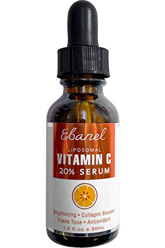 Ebanel 20% Vitamin C Serum for Face with Hyaluronic Acid, Anti Wrinkle Anti Aging Serum Dark Spot Corrector Remover for Face, Even Tone Brightening Serum with Ascorbic Acid, Vitamin E B5, Ferulic Acid