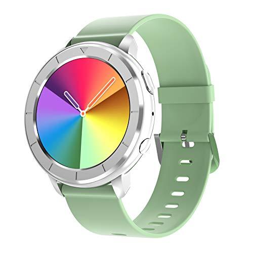 HQPCAHL Smartwatch, Llamadas Bluetooth, Control De Música, Oxigeno, Presion Arterial, Frecuencia Cardiaca, Ejercicio para iOS Y Android,Smartwatch Hombre Mujer,Verde