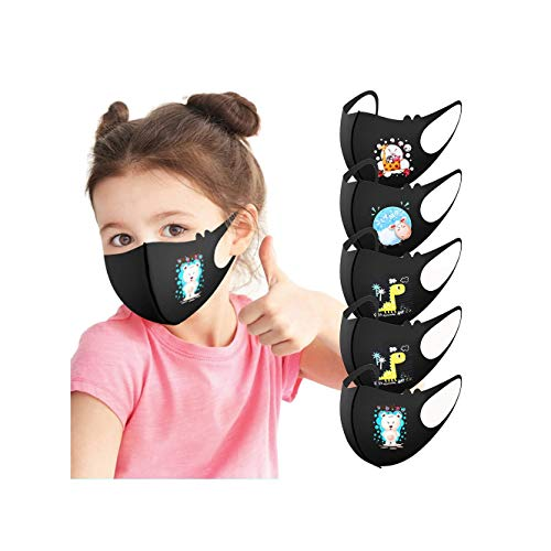 LULU99 Kids Face Protection 100pcs Children Summer Cooling Dustproof Face Macks Disposable 3Ply Face Bandanas Breathable Non-Woven with Ear Loops Funny Printed