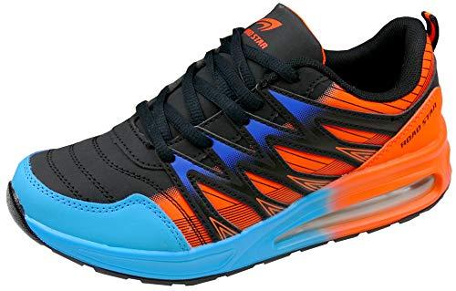 gibra® Sportschuhe Sneaker, Art. 7227, Neonorange/schwarz/blau Gr. 38