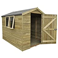 Highest quality tongue and groove construction with supporting pressure treated floor bearers One fixed and one opening acrylic window for added ventilation with high quality catches Single door with diagonal double Z framing for strength High qualit...