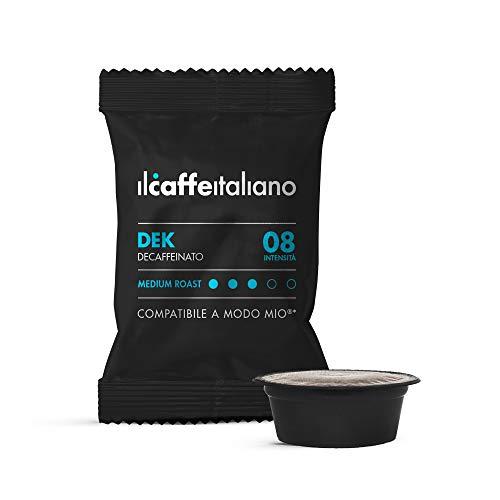 FRHOME - Lavazza a Modo Mio 100 Càpsulas compatibles - Il Caffè Italiano - Mezcla Descafeinado Intensidad 8