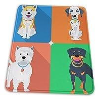 マウスパッド 四匹の可愛い犬 カラフル ゲーミングマウスパット デスクマット 最適 高級感 おしゃれ 滑り止めゴム底 防水設計 複数サイズ