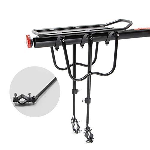 Durable, Portador de equipaje de bicicletas Carga del estante trasero del estante del ciclismo del asiento del ciclismo del soporte del soporte para 20-29 pulgadas Accesorios para bicicletas con herra