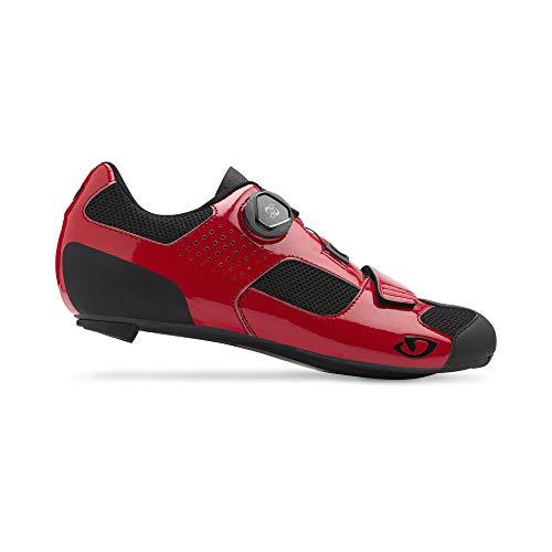 Giro Herren Trans (boa) Road Radsportschuhe - Rennrad, Bright red/Black, 43 EU