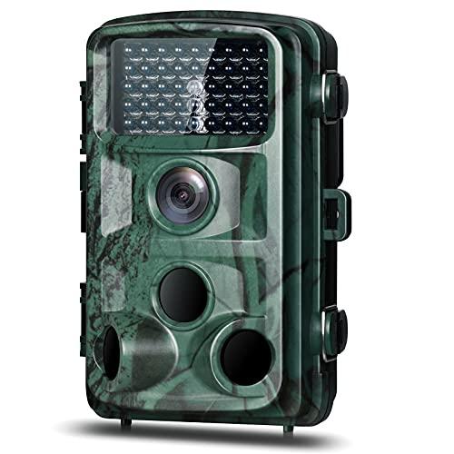 Wildkamera Fotofalle 4K 20MP Jagdkamera mit Infrarot Nachtsicht Bewegungsmelder 0,2s Schnelle Trigger Nachtsichtkamera mit IR LEDs IP66 Wasserdicht für Jagd und Überwachung von Wildtieren