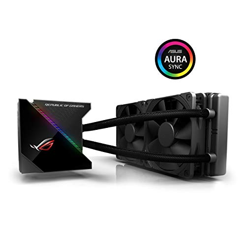 ASUS ROG Ryujin 240 All-in-One CPU-Wasserkühlung (1,77 Zoll OLED-Display, Aura Sync RGB, Noctua iPPC 2000 PWM 2 x 120 mm Radiatorlüfter)