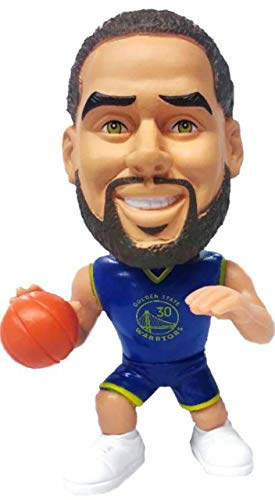 Party Animal NBA Golden State Warriors Stephen Curry Unisex Big Shot Ballers Action Figurine, Team Color, 5'' Tall (BSWAR)