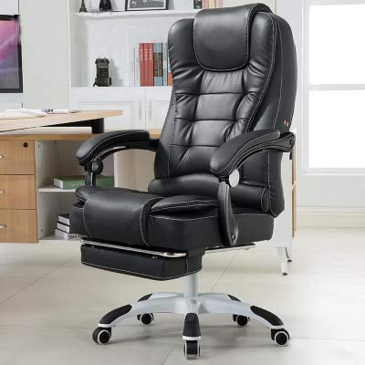 Desk Chair ,Computer Chair Household PU Office Chair Swivel Lifting Gaming Chair Massage Function Silla Oficina Cadeira Gamer,B1 with footrest