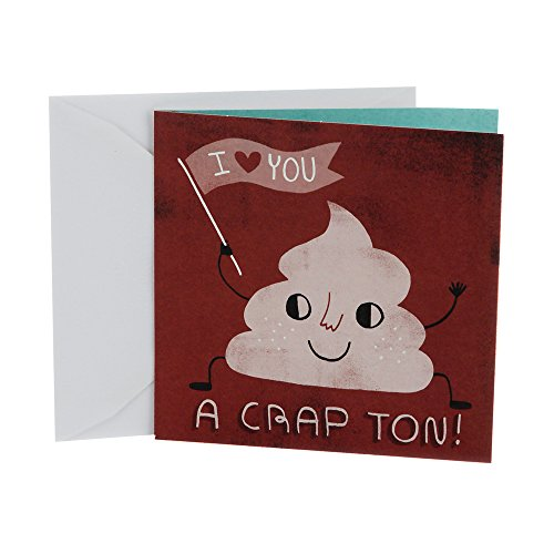 Hallmark Studio Ink Birthday Card, Fathers Day Card, or Anniversary Card�(I Love You A Crap Ton)
