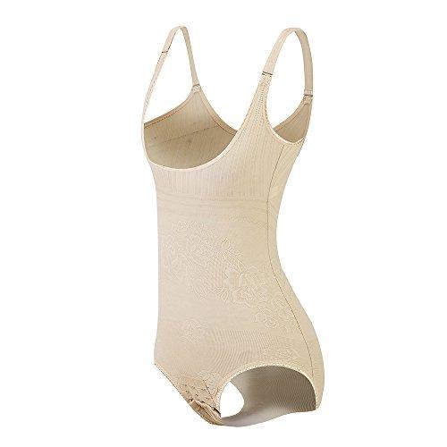 KSKshape Damen Shapewear Body Shaping Bodysuit Miederslip Postnatal Erholung Bauch Weg Taillenformer Figurformender (Beige, (Für Taille 94-101cm) 4X-Large)