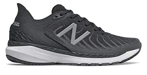 New Balance Men's Fresh Foam 860v11, Black/White, 12 Medium