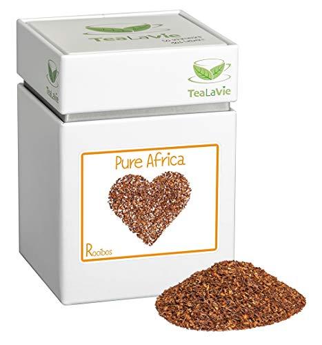 TEALAVIE - Rooibos Tee lose | Pure Africa - weicher lieblicher Teegenuss | 120g Dose loser Rotbusch Tee aus Südafrika