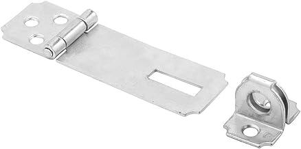 Prime-Line Ferrolhos de segurança MP5056, 6,35 cm, estrutura de aço, acabamento banhado a zinco, grampeado fixo, pacote com 1