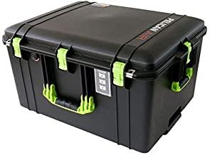 Black & Lime Green Pelican 1637 NO Foam Air case. Comes with wheels.