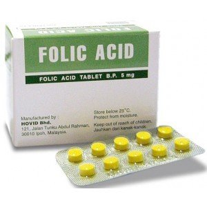 HOVID Folic Acid 5Mg 100 Tablets (Pack of 3 Boxes of 100 Tablets)