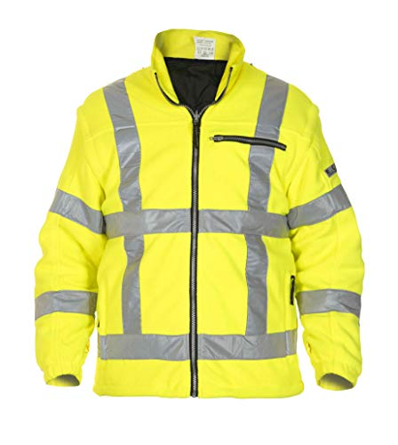 EN 471 RWS-fleece in Toptex, HV-geel.