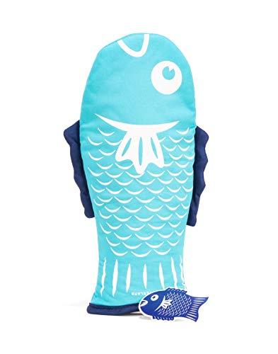 Pot handschoen vis blauw