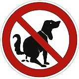 """Cartello, segnale di divieto per indicare:""""questa non è una toilette per cani"""", diametro di 31,5 cm, in alluminio e resistente agli agenti atmosferici, per scongiurare escrementi di cane"""