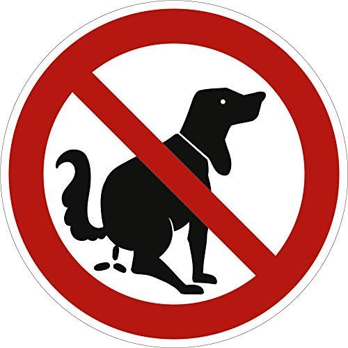 Schild Verbotszeichen Hier kein Hundeklo Alu 31,5 cm (Hundekot, Hundetoilette, Hundehaufen) wetterfest