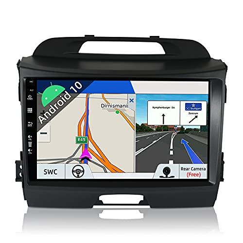 JOYX Android 10 Autoradio para Kia Sportage (2010-2015) - [2G+32G] - Gratis Cámara Cnabus - 9 Pulgada - 2 DIN - 2.5D Pantalla - Apoyo Dab 4G WLAN Bluetooth5.0 Carplay Volante Android Auto Mirrorlink