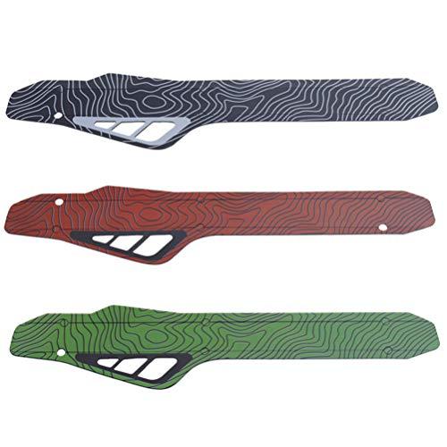 CLISPEED 3 Stück Fahrradkettenschutz Kunststoff Fahrradrahmen Kettenschutz Pad Kettenstrebenschutz für Mountainbike (Rot + Grün + Schwarz)