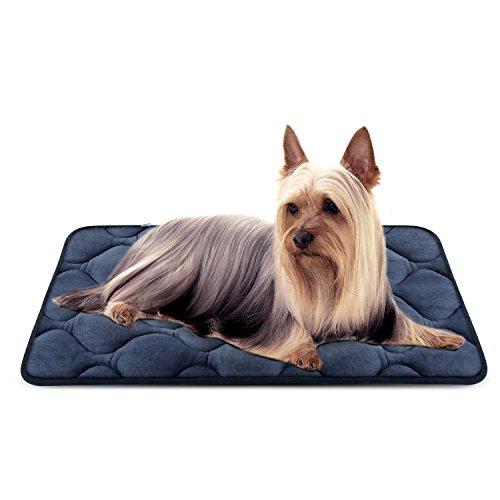 Weiche Hundebett Luxuriöse Hundedecken Waschbar Orthopädisch Liekissen rutschfeste Hundematte für Kleine Hunde Dunkel Blau S von HeroDog