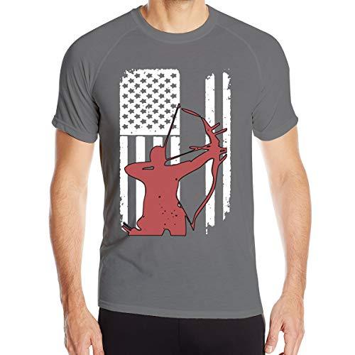 Mary S West Tir à l'arc Chasse à l'arc T-Shirt à séchage Rapide pour Hommes T-Shirt Militaire Hommes Camping en Plein air Chemises de randonnée à Manches Courtes