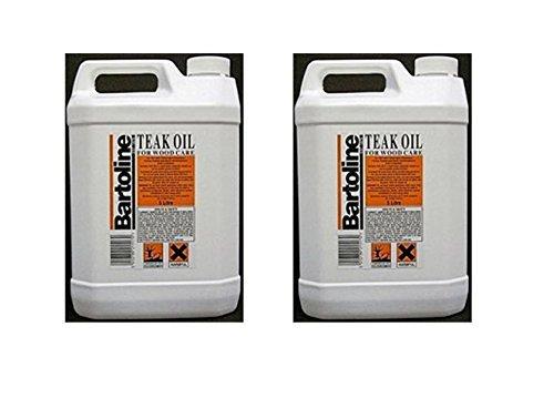 2 x 5 Ltr Bartoline - Teak Oil For Wooden Garden Furniture Oil - 10 L