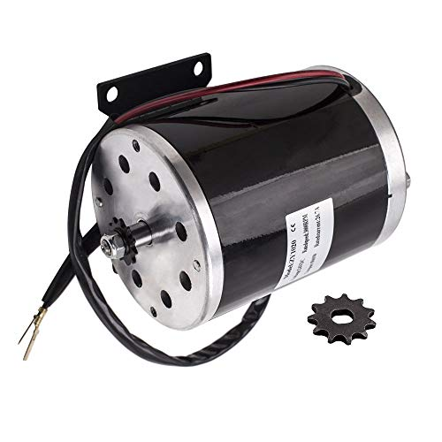 Autoshoppingcenter 24V 500W Electric Brush Motor for Scooter Ebike Ekart 2500 RPM