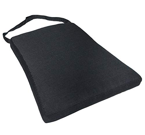 KMH®, Schönes schwarzes Sitzkissen Tajs mit Befestigungskordeln (#106083)