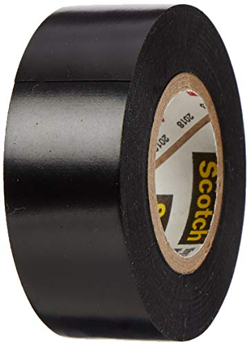 3M Scotch Super 88 Elektro Isolierband, Vinyl, schwarz, 19 mm x 6 m