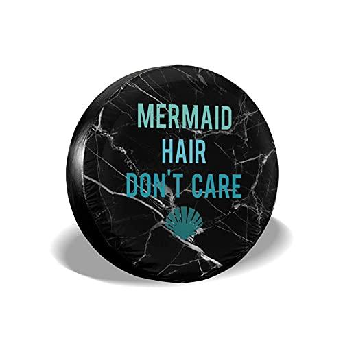 VJSDIUD Cubierta de llanta Mermaid Hair Don't Care Spare Wheel Tire Cover Waterproof for Trailer RV SUV Truck Camper Accessories