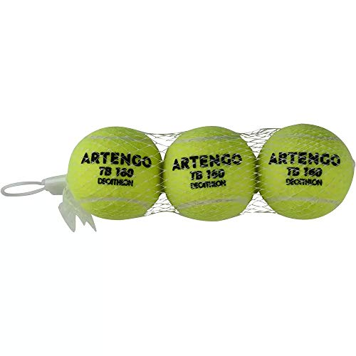 Artengo Tennisbälle TB160 3 Bälle in Gelb Tennis Kinder Erwachsene Bälle Sport Hund Katze