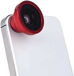 180 درجة عدسة عين السمكة ماكرو المغناطيسي جبل لـ آيفون 5S 5 جالاكسي S4 S3 نوت 3 HTC 2 في 1 أحمر
