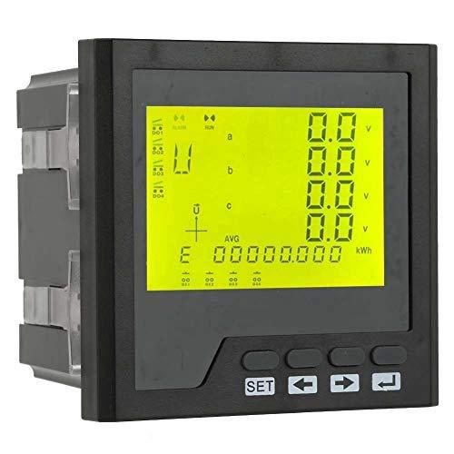 Analizador de red LT194E-9SY panel multímetro AC 400 V / 5 A LED trifásico amperímetro voltímetro amperímetro programable voltímetro