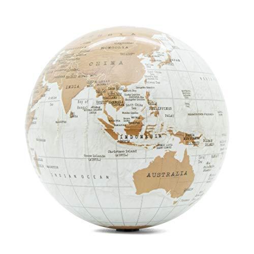 Luckies of London Globo Terráqueo Giratorio, Mapa del Mundo Autogiratorio, Accesorios de Escritorio de Oficina