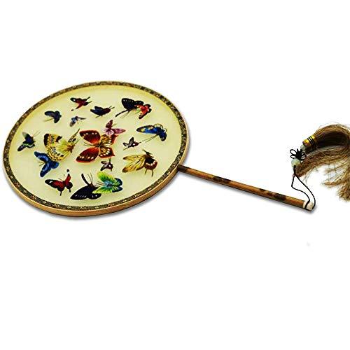 団扇 手作り 両面 刺繍 うちわ 漢服 レディース 中国 ボックス付き 古典 団扇 コスプレ 道具 母の日プレゼント