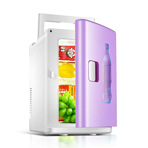 Hailzen Koelkast, voor auto, 10 liter, violet, koelkast, draagbare picknick met handgreep, mini-koelkast, koelkast, voor auto, huis, auto, woonkamer of boot