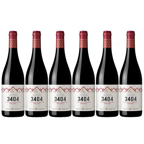 Bodega Pirineos 3404 | Vino Tinto con Denominación de Origen - Caja 6 x 75 cl