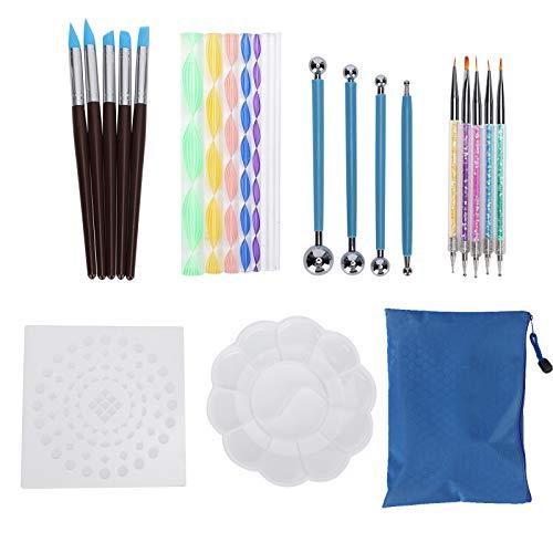 Juego de pintura con puntos, fácil de llevar, 25 piezas, herramienta de pintura, herramienta de pintura, regalo de bricolaje para principiantes