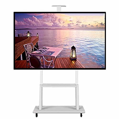 YXX Soporte TV Trole Blanco Soportes De Montaje En Suelo para TV Y Carros AV, Soporte De Exhibición De Pantalla Plana Rodante Portátil para 32-70 Pulgadas Televisión/Plasma/LCD/LED, Carga 100 Kg