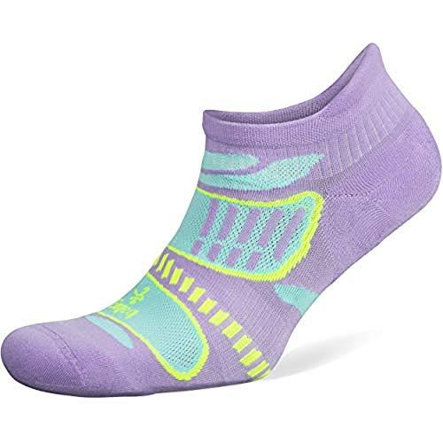 Balega Ultraleichte No Show Athletic Laufsocken für Damen und Herren (1 Paar), Unisex-Erwachsene Herren, Socken, Ultralight No Show, Flieder/Aqua, Small